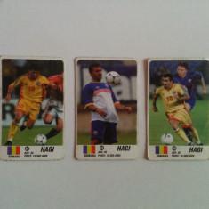 Lot 3 cartonașe fotbal - EURO 2000 - Gheorghe Hagi (jucător de fotbal - România)