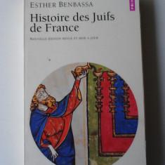 Histoire des Juifs de France - Esther Benbassa   (expediere 6 lei/gratuit) (4+1)