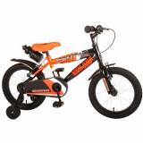 Cumpara ieftin Bicicleta Sportivo Portocalie 16 inch cu 2 Frane de Mana si Sticla Apa