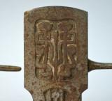 Suport impresionant pentru baston sau umbrela realizat in fonta Art Nouveau W&F