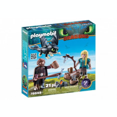Playmobil Dragons - Hiccup, Astrid si pui de dragon