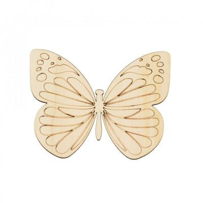 Figurina Fluture din Lemn F3 - 130x100 mm foto