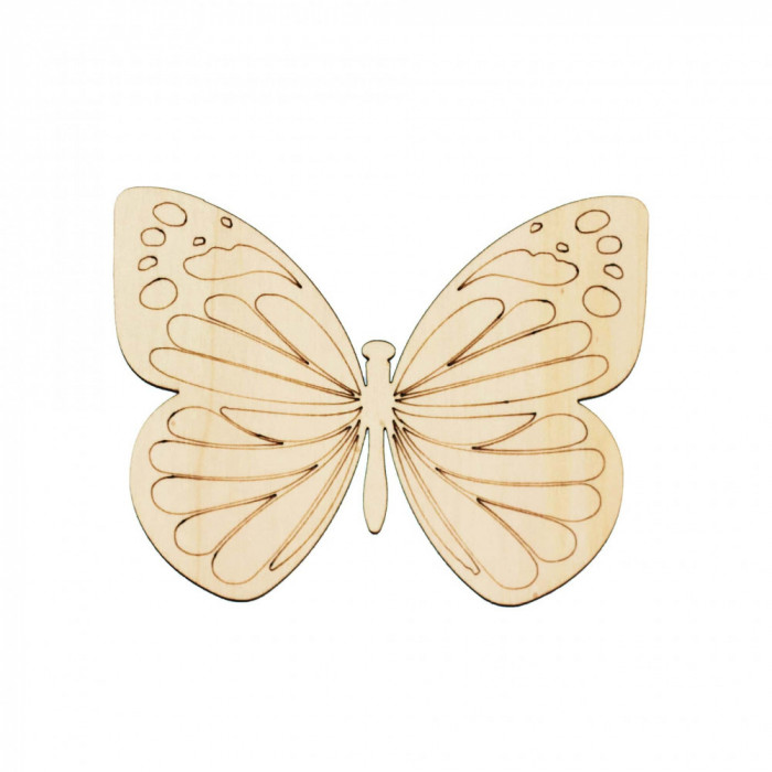 Figurina Fluture din Lemn F3 - 130x100 mm