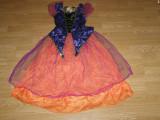 Costum carnaval serbare vrajitoare zana toamnei pentru copii de 7-8 ani, Din imagine