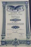 Titlu de 10000 Lei 1936 - Datoria publica a Romaniei , actiuni , imprumut