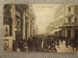 Carte Postală Craiova, interbelică, circulată, Str. Unirei, animată, reclame, Circulata, Fotografie