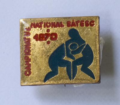 Insigna Campionatul National Satesc 1970 foto