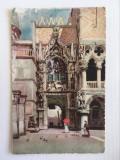 Carte postala veche vedere Italia Venetia - Porta della Carta, 1924, circulata