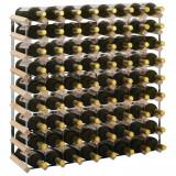 vidaXL Suport sticle de vin pentru 72 de sticle, lemn masiv de pin