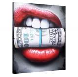 Tablou Canvas, Tablofy, Put the money where your mouth is, Printat Digital, 90 × 120 cm