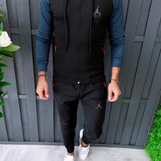 trening barbati - Bluza si pantaloni conici - Model Nou jordan -