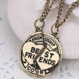 Pandantiv / Colier / Lantisor - BFF / BF -  SET Best Friends - Friendship