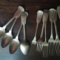 Set tacamuri alpaca, argintate