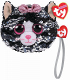 Cumpara ieftin Gentuta De Mana Din Plus Ty 10Cm Pisica Kiki Cu Paiete