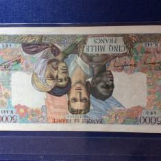 Bancnota Franta 5000 franci 1945