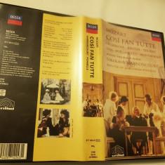 [VHS] Mozart - Cosi fan Tutte - Harnocourt / Ponnelle - caseta video originala