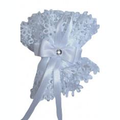 Floare pentru decorarea lumanarii de botez-NN FL1A, Alb