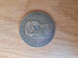 Moneda 5 lei 1901 - Carol I - FALSA