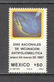 Mexic.1987 Ziua nationala de vaccinare antipoliomielitica PM.34, Nestampilat