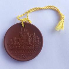 Medalie din portelan MEISSEN cu alchimistul german Johann Friedrich Böttger