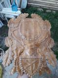 Panoplie coarne de cerb - 45x30cm vanatoare trofeu