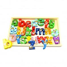 Set Educational Tabla cu Litere Multicolore pentru Invatarea Alfabetului pentru Copii