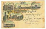 3818 - TIMISOARA, Litho, Romania - old postcard - used - 1898, Circulata, Printata