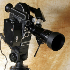 Aparat de filmat 16 mm Paillard Bolex H16 Rex Reflex cu zoom Som Berhiot.