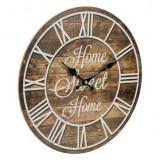 Cumpara ieftin Ceas de perete, lemn maro, casa dulce casa, 34 cm