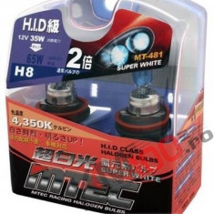 SET 2 BECURI AUTO H8 MTEC SUPER WHITE - XENON EFFECT