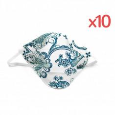 Set 10 masti fashion bumbac alba blue