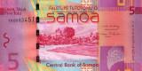 Samoa 5 Tala ND(2008)  P38a   Necirculata