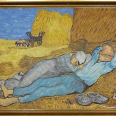 """Tablou """"Amiază: odihna după muncă"""", reproducere după Van Gogh"""