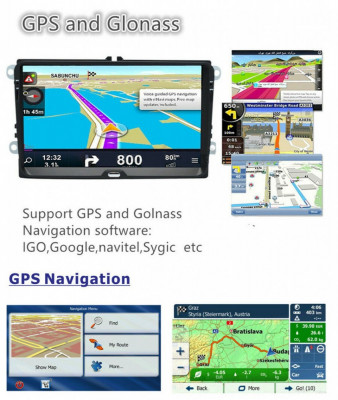 Navigatie Auto 9 inch GPS Volkswagen VW Skoda Seat foto