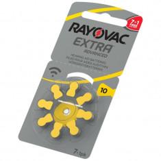 Baterii Pentru Proteze Auditive RAYOVAC 10 PR70 Zinc-Aer 8 Baterii / Set PROMO (7+1 gratis)