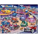 Cumpara ieftin Set 2 Puzzle-uri Masinute, 15 piese Larsen LRU14 B39016898