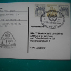 HOPCT 55600  GERMANIA 25 ANI FILATELIE 1981 UNO  -NECIRCULATA