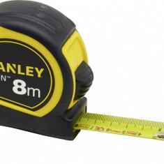 STANLEY Ruleta TYLON cu protectie cauciuc 8 m