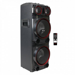 Boxa portabila Akai ABTS-1502 Bluetooth Radio FM 100W Black Red