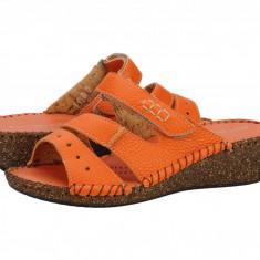 Sandale piele dama Relaxshoe Fontane arancia 40622ARANCIA