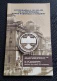10 Lei 2010 BNR - argint - Aniversarea de 130 ani - Banca nationala a Romaniei