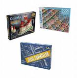 Pachet promo Indemanare - Jocul cuvintelor + Puzzle 500 piese Ceramica + Puzzle 3D Castelul Bran, Noriel