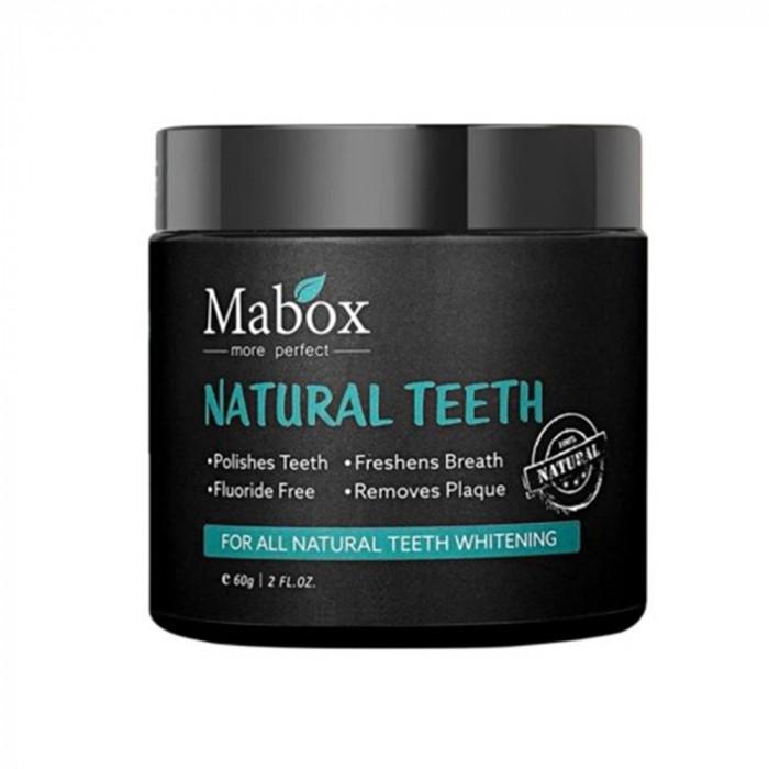 Pudra albire si detoxifiere dinti, GMO, Mabox, 100% carbune activat bambus