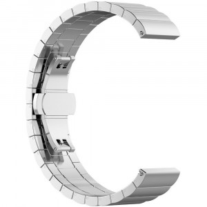 Curea metalica Smartwatch Samsung Gear S3, iUni 22 mm Otel Inoxidabil Silver Link Bracelet