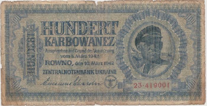 Ucraina 100 karbowanez 1942 UZATA