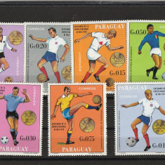 Sport,  fotball medaliati , Paraguay., Nestampilat