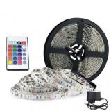 Cumpara ieftin Banda LED RGB cu Telecomanda, 300 LED-uri, Lungime 5m
