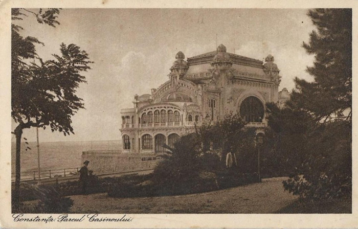 Carte poștală Constanța parcul casinoului