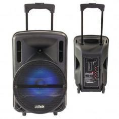 Cumpara ieftin Boxa portabila LED, 200 W RMS, USB/SD/BT/FM, telecomanda, microfon wireless