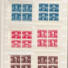 1945 LP 173  LP 173 b  CGM  BLOCURI  DE 4  TIMBRE DANTELATE +  NEDANTELATE   MNH